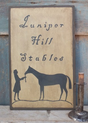 Primitive Wood Sign - Juniper Hill Stables