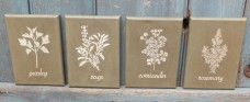 Primitive Herb Canvas Set (4) - Sage