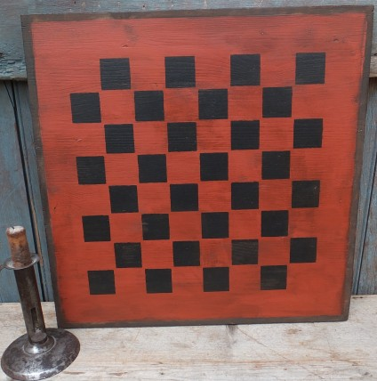 Primitive Large Checkerboard Sign - Red Oxide