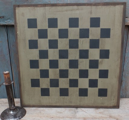 Primitive Large Checkerboard Sign - Pewter