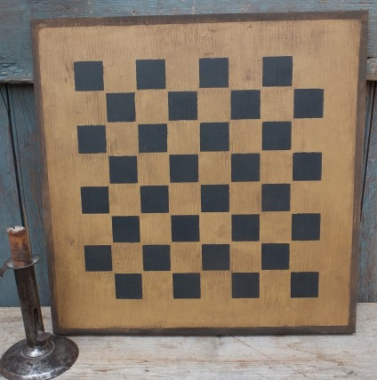 Primitive Large Checkerboard Sign - Chestnut