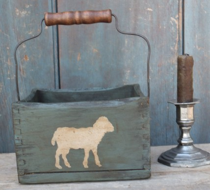 Primitive Wood  Crate - Sheep