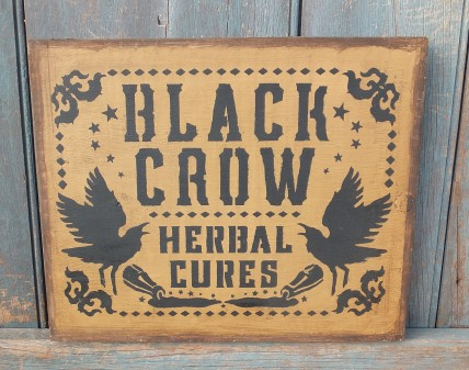 Primitive Wood Sign - Herbal Cures