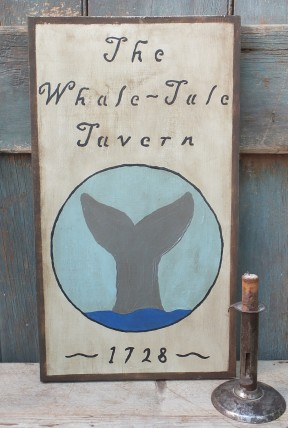 Primitive Wood Sign - Whale Tale Tavern