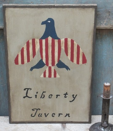 Primitive Wood Sign - Liberty Tavern Americana