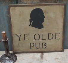 Primitive Wood Sign - Ye Olde Pub