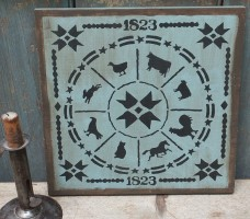 Primitive Wood  Sign - Animal Gameboard