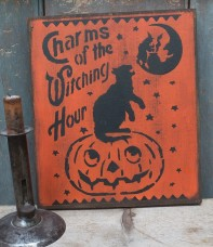 Primitive Wood Sign - Witchy Charms