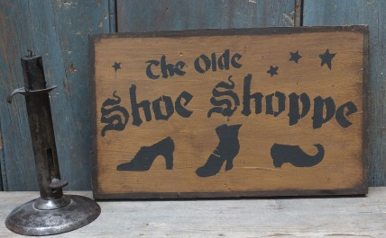 Primitive Wood Sign - Olde Shoe Shoppe