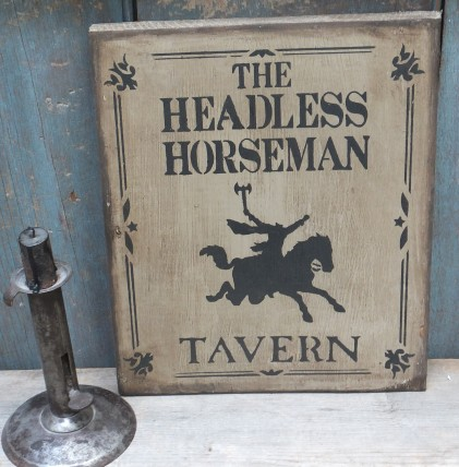 Primitive Wood Sign - Headless Horseman