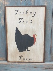 Primitive Wood Sign - Turkey Trot