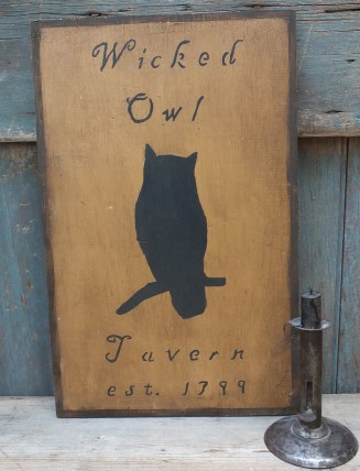 Primitive Wood Sign - Wicked Owl Tavern