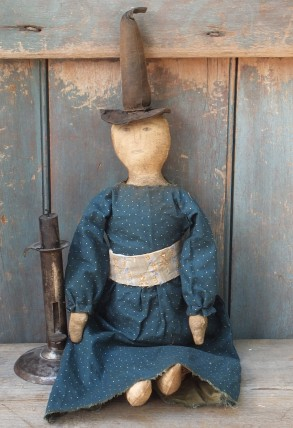 Primitive Witch Doll - Blue