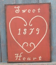 Wood Sign - Sweet Heart 1879