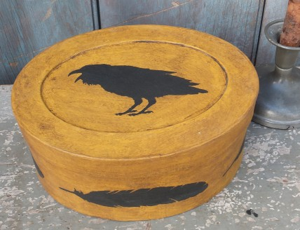 Folk Art Box - Crow