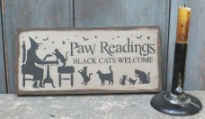 Wood Sign ~ Paw Readings