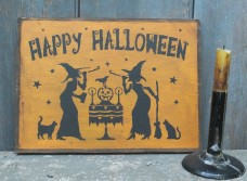 Wood Sign ~ Happy Halloween