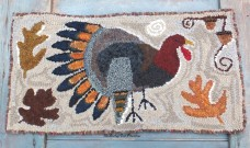 Hooked Rug - Turkey Oak