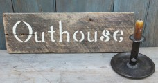 Primitive Wood Sign - Outhouse