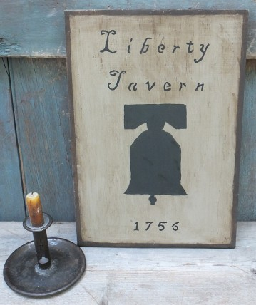 Primitive Wood Sign- Liberty Tavern