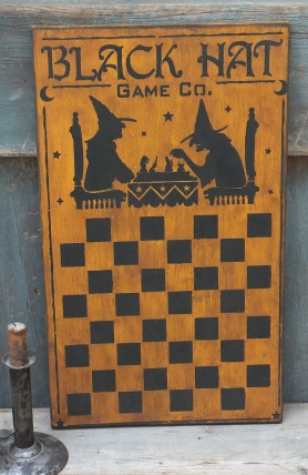 Primitive Wood Sign - Black Hat Games