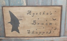 Primitive Wood Sign - Agatha's Broom Shop