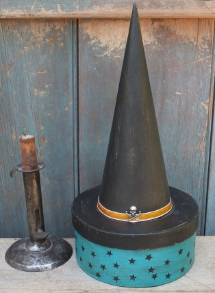 Small Witch Hat Box - Teal