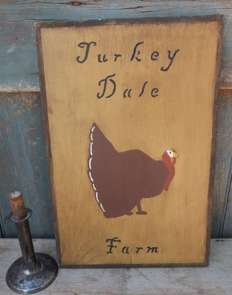 Primitive Wood Sign- Turkey Dale Farm