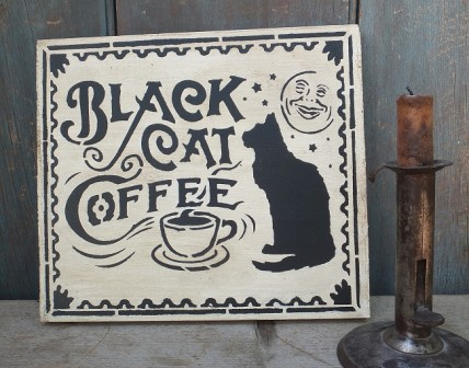 Primitive Sign - Black Cat Coffee