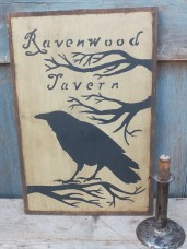 Primitive Wood Sign - Ravenwood Tavern