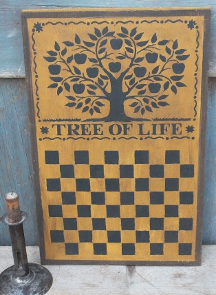 Primitive Wood Sign- Tree of Life