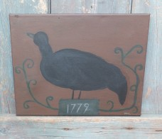 Folk Art Painting - Wrought Iron Bird