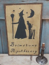 Primitive sign - Brimstone Apothecary