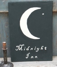 Primitive Wood Sign - Midnight Inn